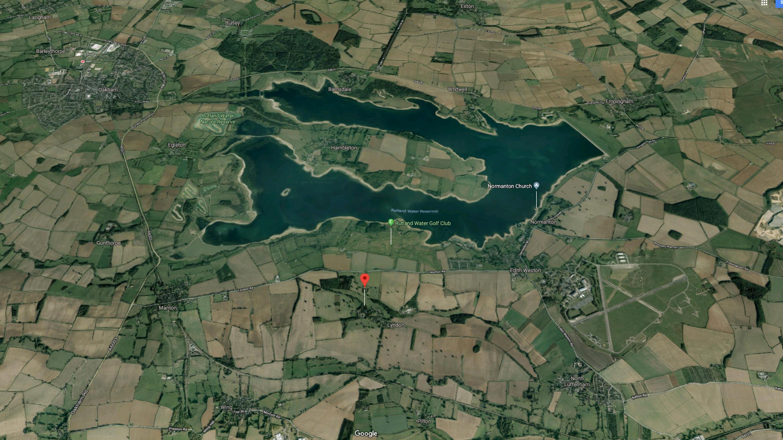 Lyndon, just south of Rutland Water