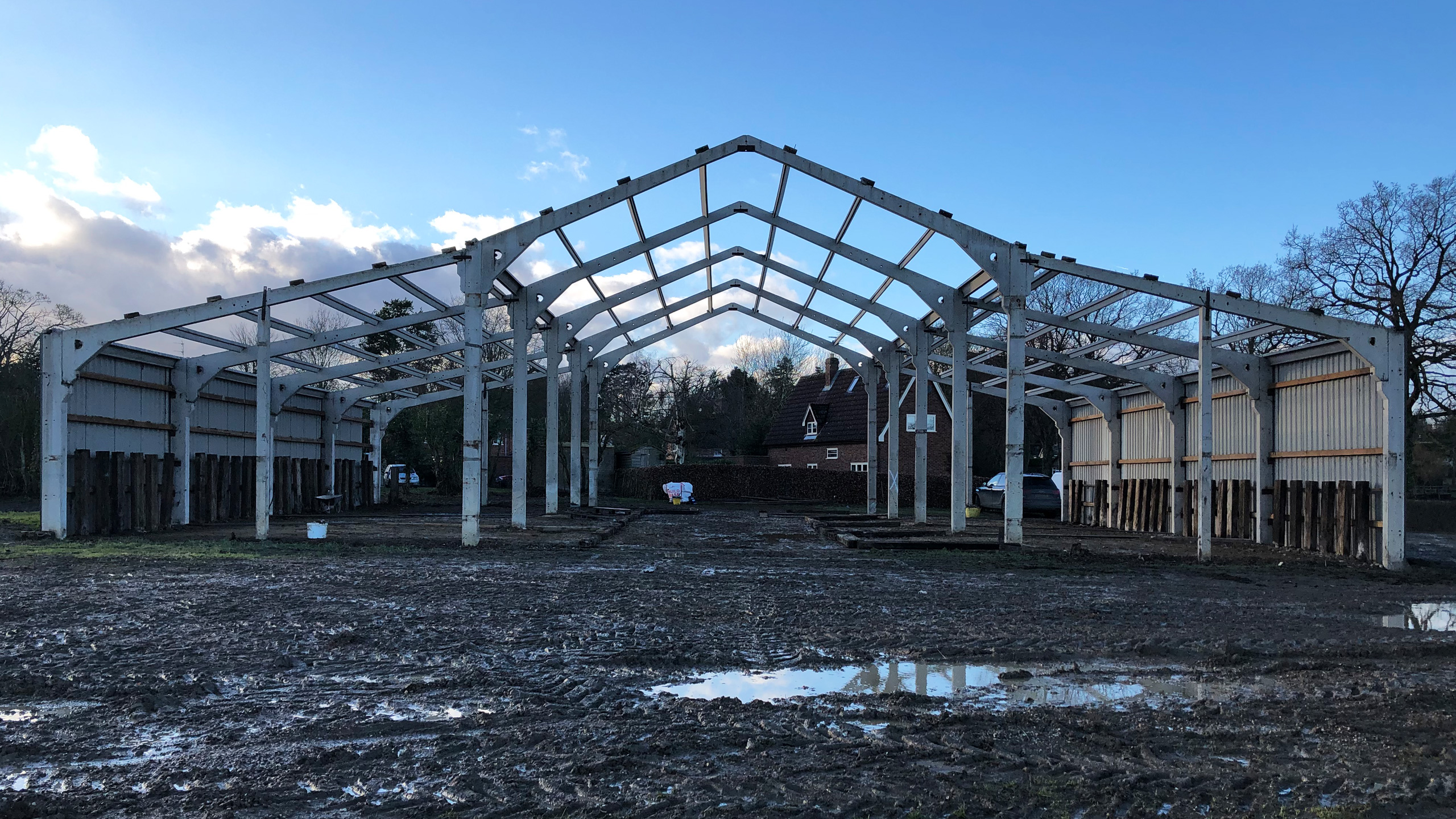 Feb 2019: Picks Barn - Site cleared & strip down almost complete...