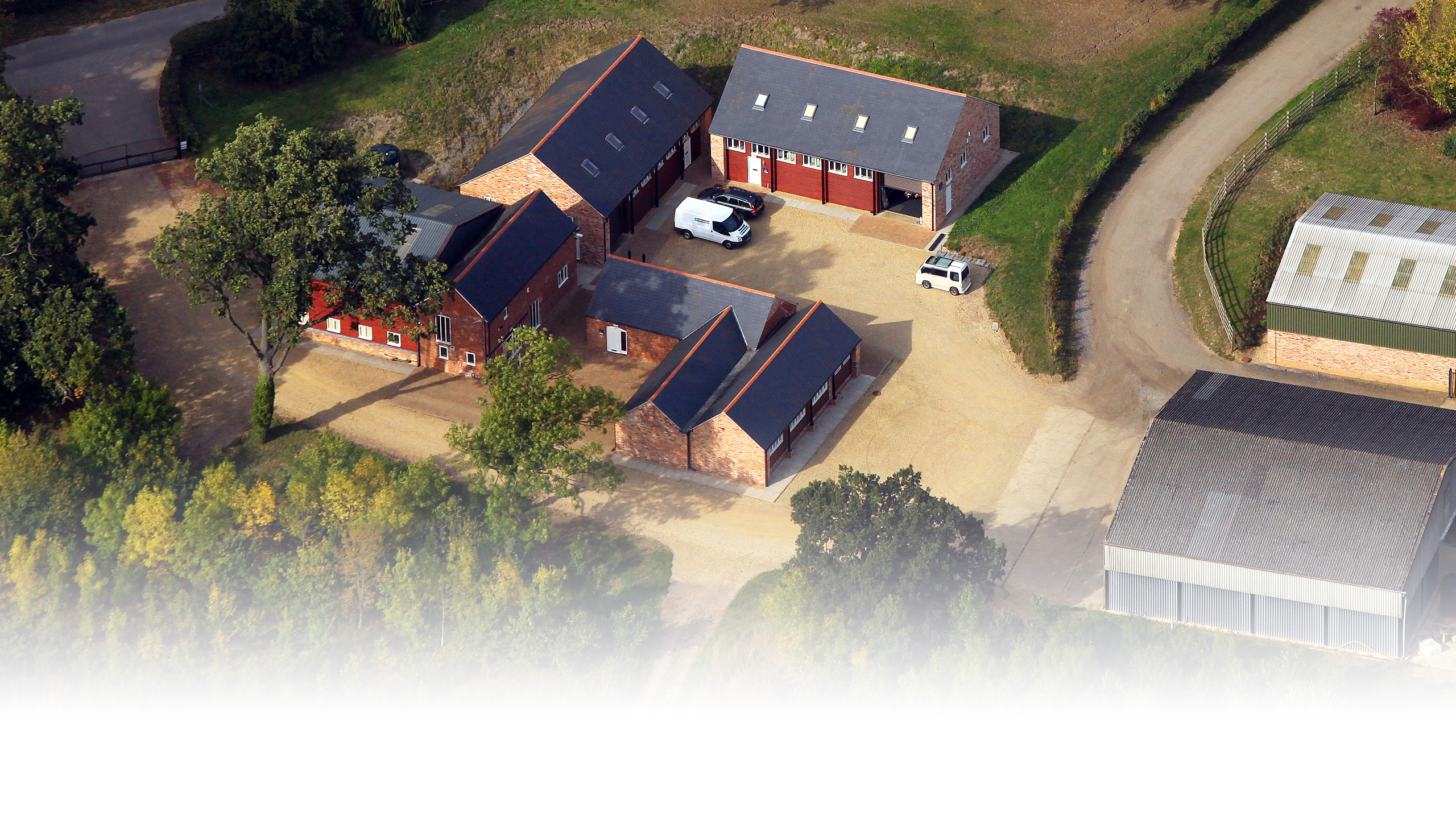 Lyndon Barns Commercial Property Site Aerial View