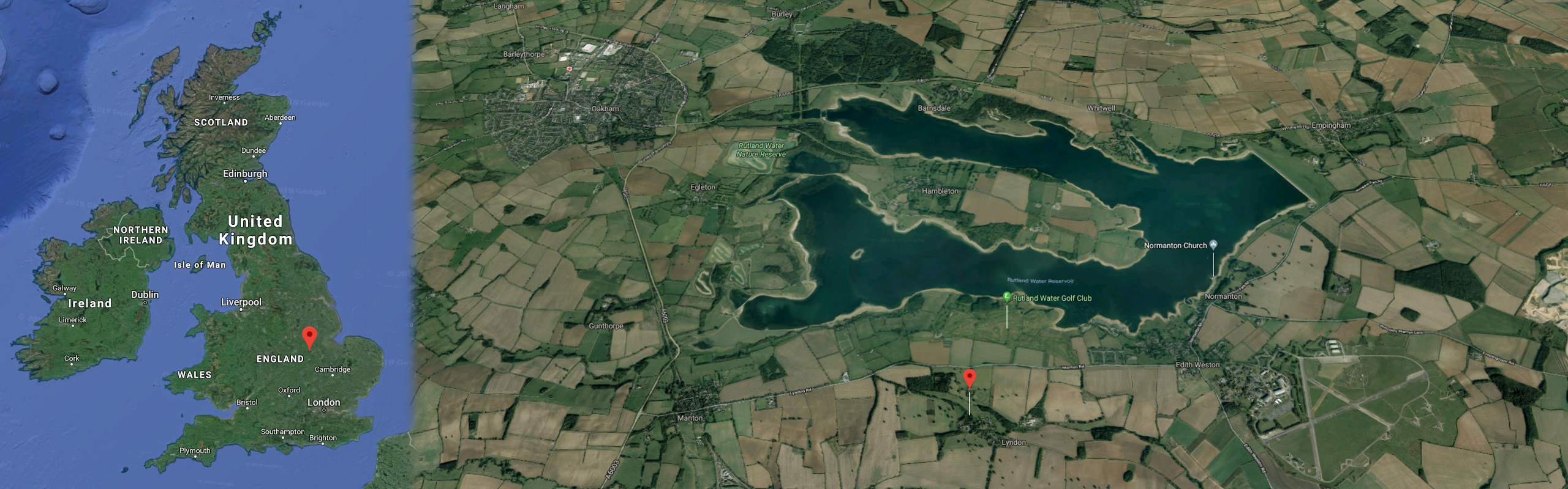 Lyndon in Rutland aerial view image.